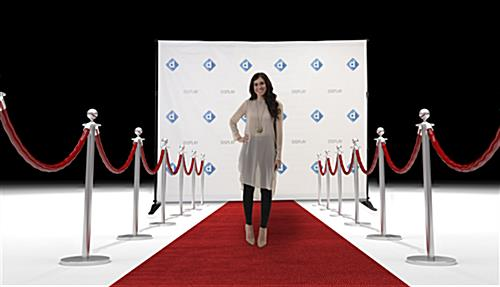 Tear resistant custom step and repeat banner for BWALL8