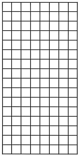 2' x 4' Black Wire Grid Panel with Metal Construction