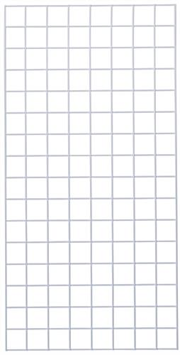Metal 2' x  4' White Wire Grid Panel