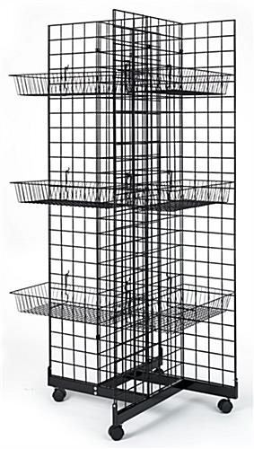 4-Sided Wire Gridwall Fixture