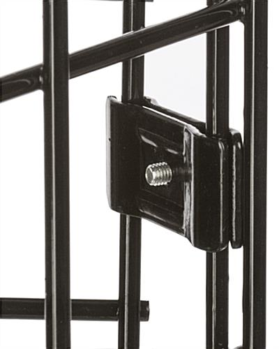 "Black Gridwall Connector, 2"" Wide"