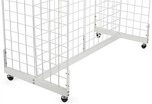 "Metal Grid Wall white metal gridwall base | ""h"" shaped frame"