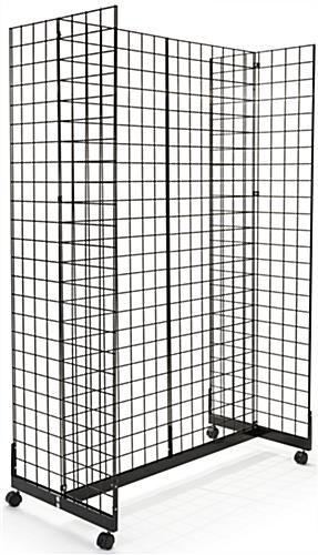 Black Gridwall H-Unit Gondola with 4 Panels