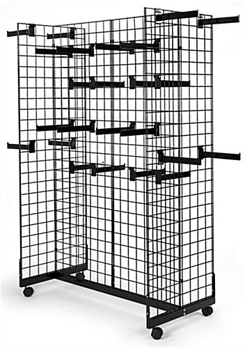 Gridwall Display with Faceout Hooks