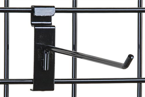 "Metal Grid Wall 10"" black gridwall hook 