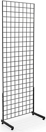 "Floorstanding Black Gridwall ""L"" Stands"
