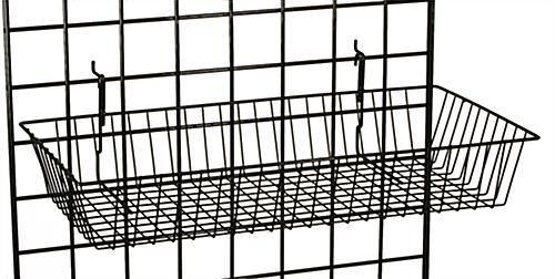"Heavy Duty Black Gridwall ""L"" Stand Basket System"