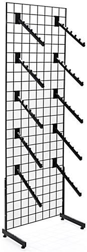 "Black Gridwall ""L"" Base Waterfall Display Set with 10 Faceouts Per Panel"