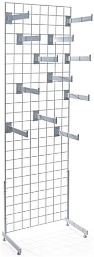 White Gridwall Faceout Merchandiser Set with 12 Hooks Per Display