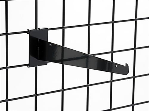 "12"" black gridwall shelf bracket in set of 2"