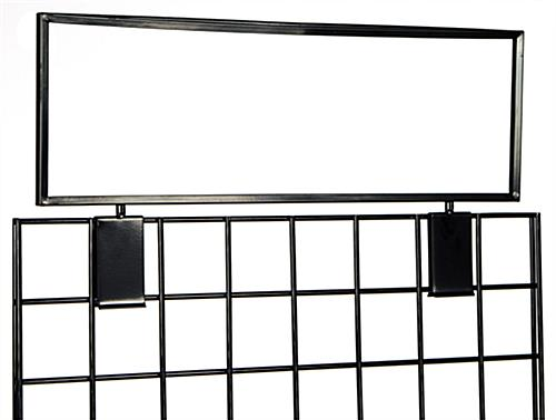 Gridwall Sign Holder | 22 Inch Wide Topper
