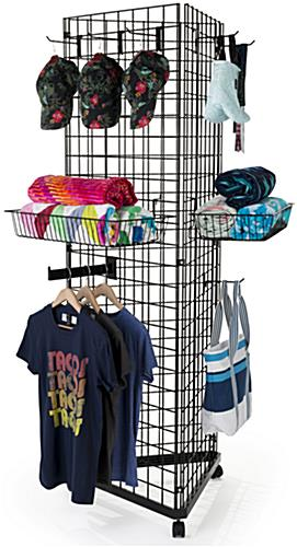 Black Gridwall Triangle Display Racks