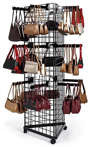 3-Sided Grid Merchandisers with Faceout Hooks