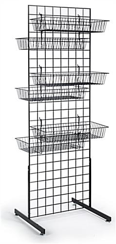Grid Wall Panels with Baskets