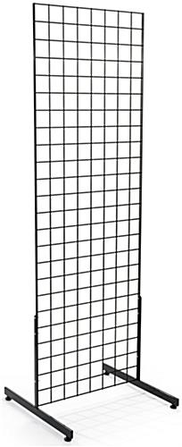 "Black Gridwall ""T"" Base Displays with 6-ft Tall Panels"