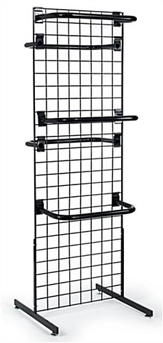 "Grid Wall Display with ""C"" Rail Hangers"