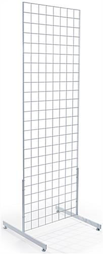"Double Sided White Gridwall ""T"" Base Merchandisers"