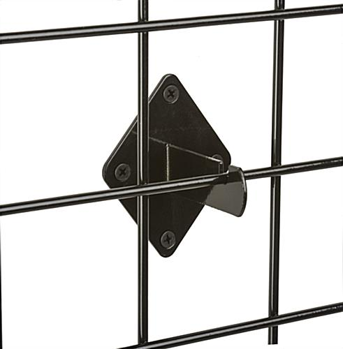 Black Grid Wall Mount Brackets for Panels