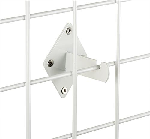 White Grid Wall Bracket Mount for Hanging Panels