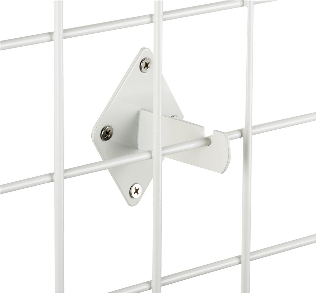 Case of 8 New or Retail Gridwall White Shelf Bracket 8 inch