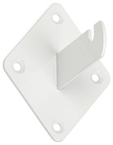 White Grid Wall Bracket Mount with Glossy Finish