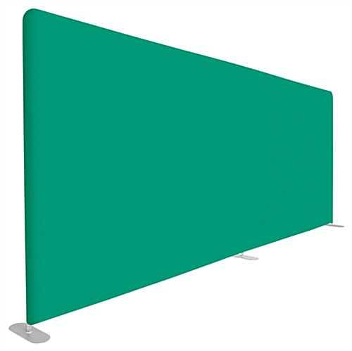 Chroma green backdrop with 354 C pantone PMS dye sublimated graphic
