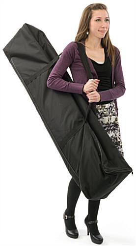 Chroma key fabric backdrop includes canvas travel bag