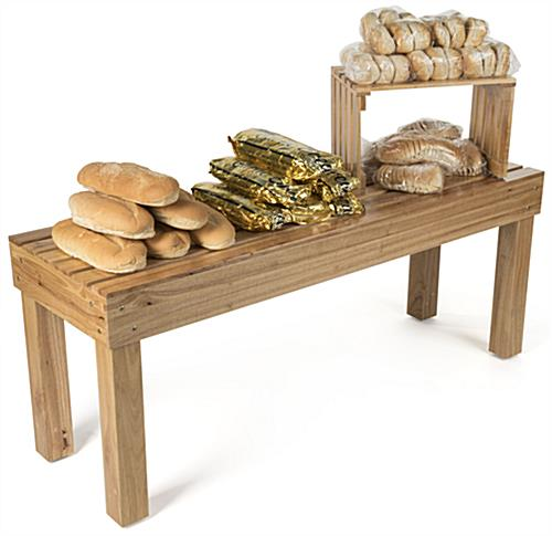 Wooden Stacking Tables with Breads