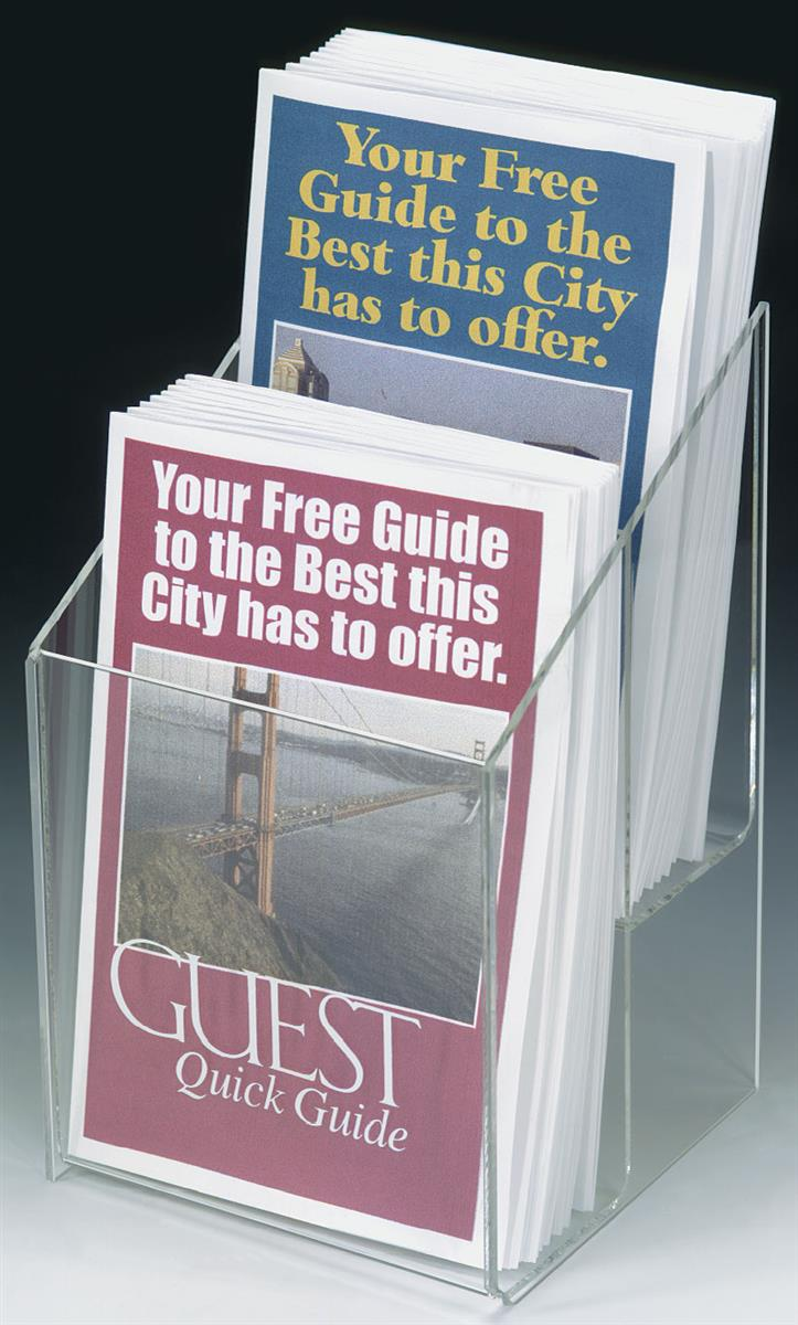 Plexiglass Brochure Racks Clear Booklet Leaflet Holder