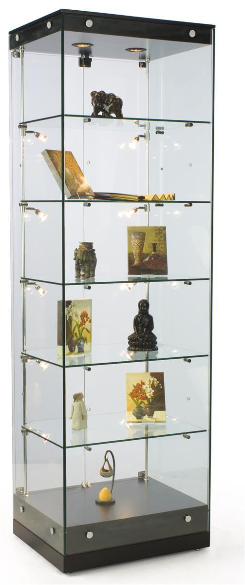 "Displays2go 24"" Glass Display Case w/Frameless Design, Ad..."