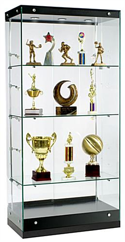 Awards Display Case: Crafted By Grace Tyler Commerical Showcases - Black Painted MDF