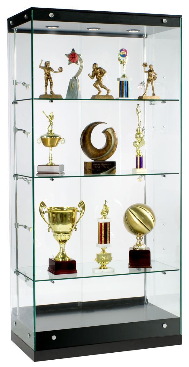 awards display case glass cabinet with adjustable side lighting. Black Bedroom Furniture Sets. Home Design Ideas