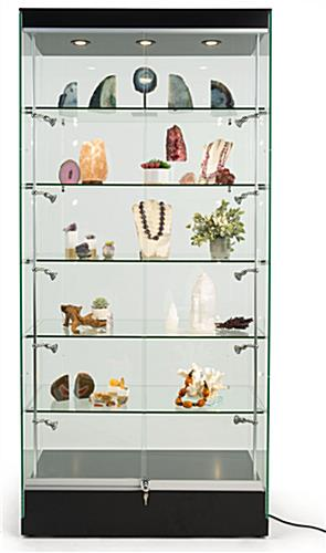 Modern glass display cabinet with tempered glass