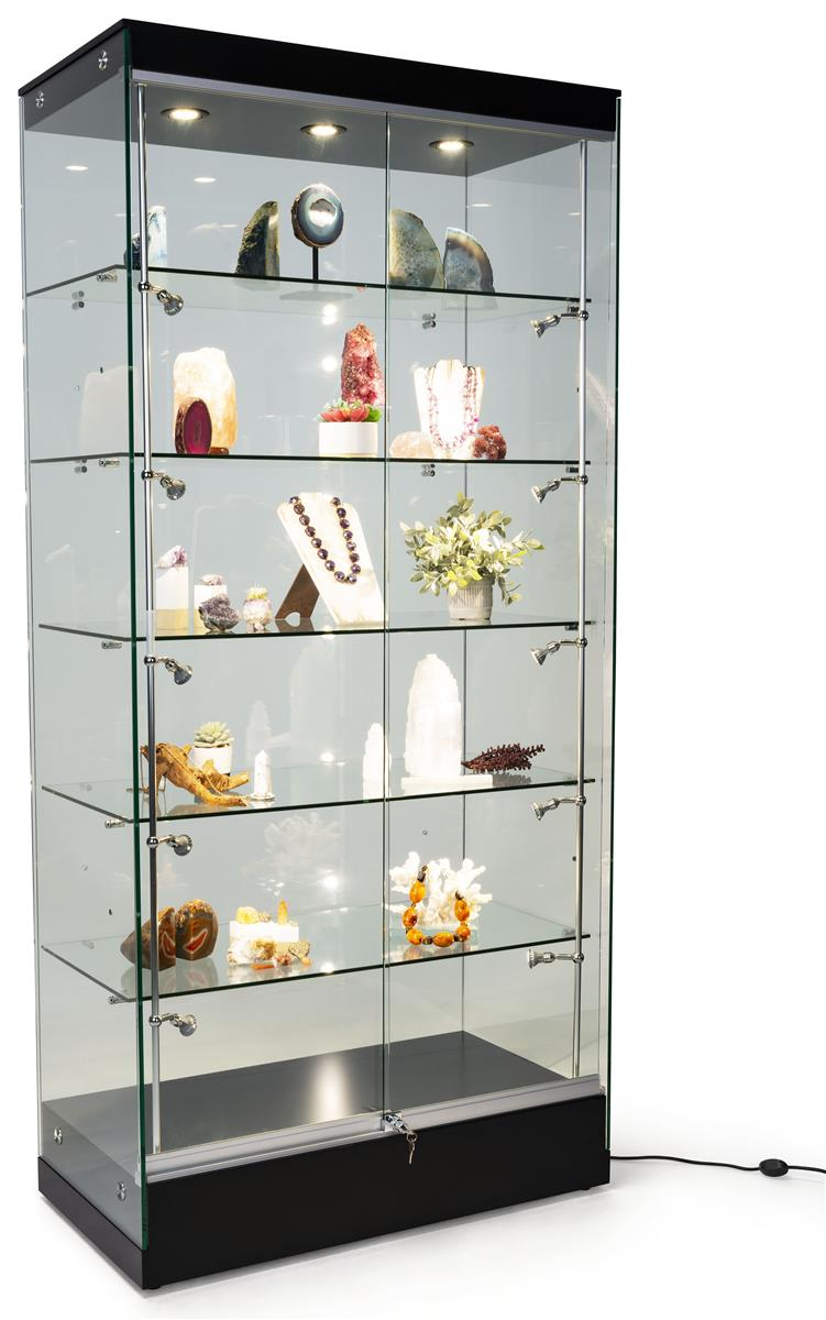Modern Glass Display Cabinet Ships Fully Assembled