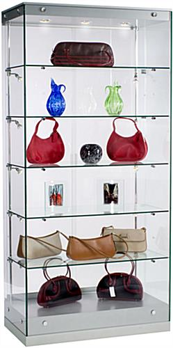 Display Showcases: Silver Grace Tyler Showcases - Silver Painted MDF