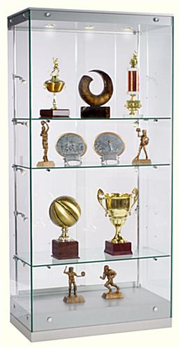 Award Display Case: Grace Tyler Case Proudly Showcases Achievements - Silver Painted MDF