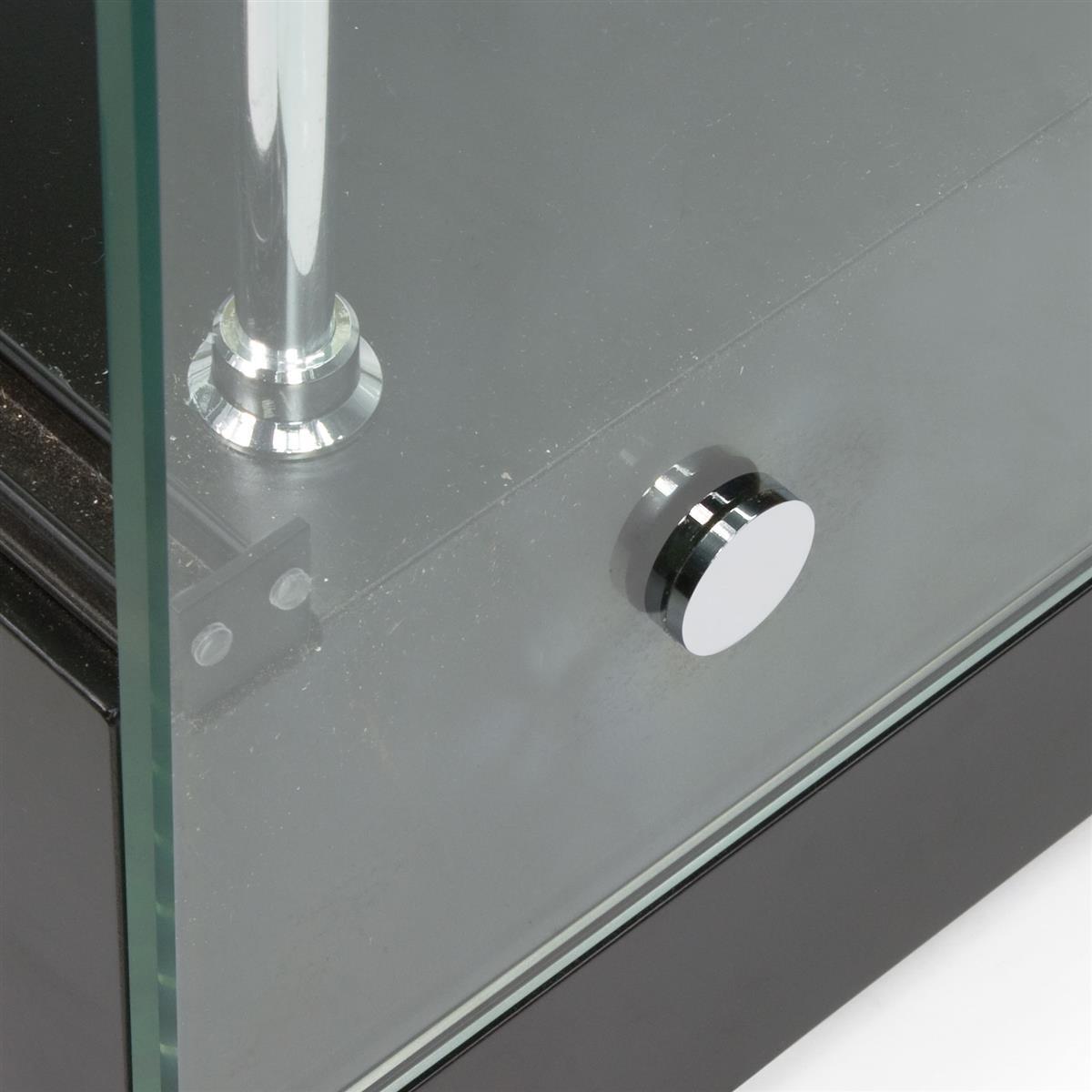 Black Mdf Display Cases Canopy Top Top Amp Side Lighting