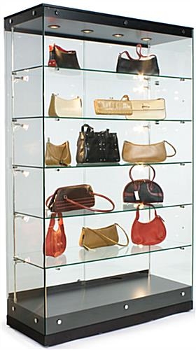 Display Cases: Grace Tyler Commercial Showcase - Black Painted MDF