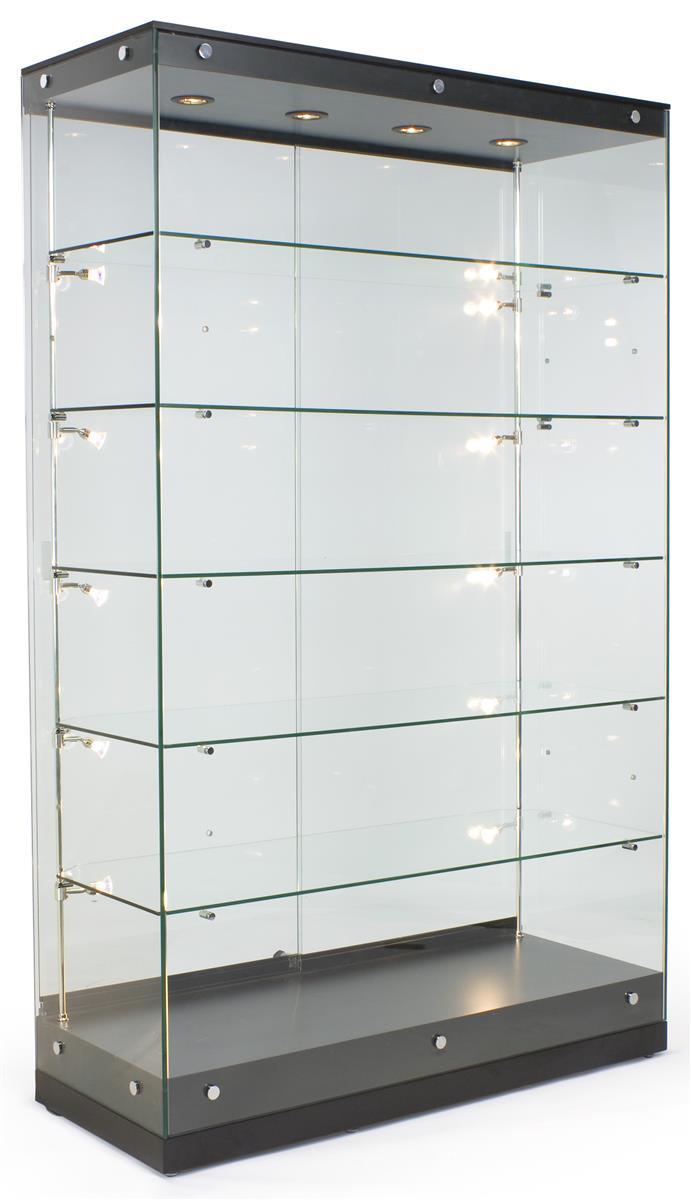 """Displays2go 48"""" Trophy Display Case w/ Frameless Design, ..."""