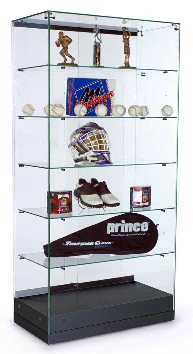 Glass Display Cabinet Showcases: Glass Showcase With (5) Shelves