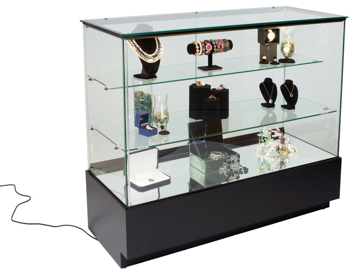 Led Lit Glass Jewelry Showcase Display Counter Led