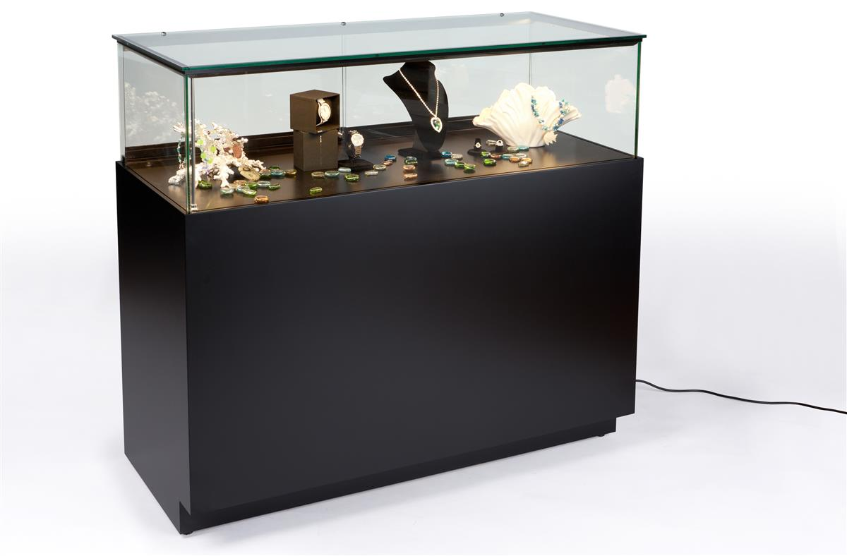 led lit jewelry counter quarter vision