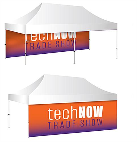 10 x 20 pop up tent custom backwall with full color double sided graphics