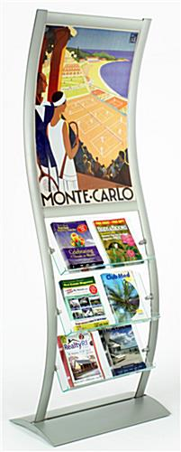 "Magazine Dispenser with 24"" x 36"" Poster Holder"