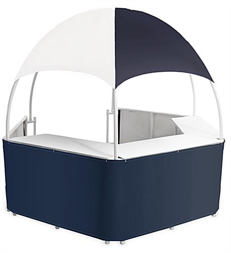 10' Wide Blue/White Promotional Gazebo