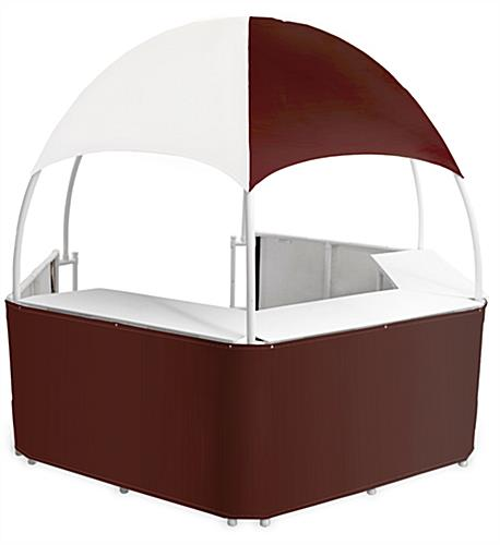 10' Wide Burgundy/White Trade Show Gazebo