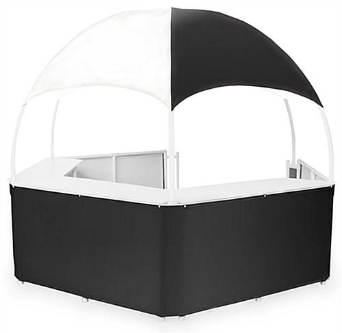 12' Wide Black/White Tent Kiosk