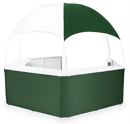 12' Green/White Event Gazebo