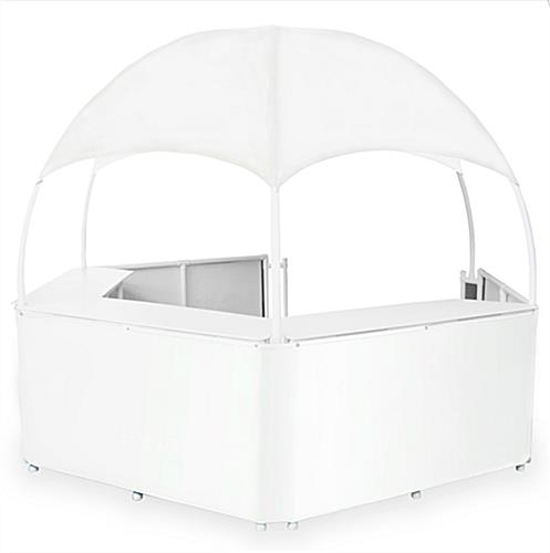 White Dome Booth Canopy with Vinyl Top