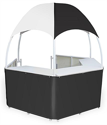 8.5' Black/White Gazebo Kiosk